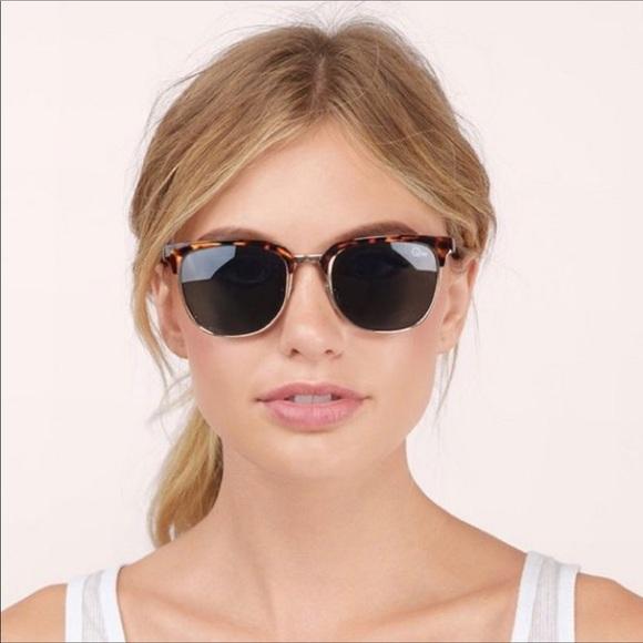 f423ed645c Quay Flint Sunglasses Tortoise Frame Green NWT